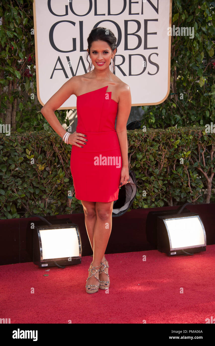 TV personality Rocsi Diaz attends the 70th Annual Golden Globe Awards at the Beverly Hilton in Beverly Hills, CA on Sunday, January 13, 2013. - Stock Image
