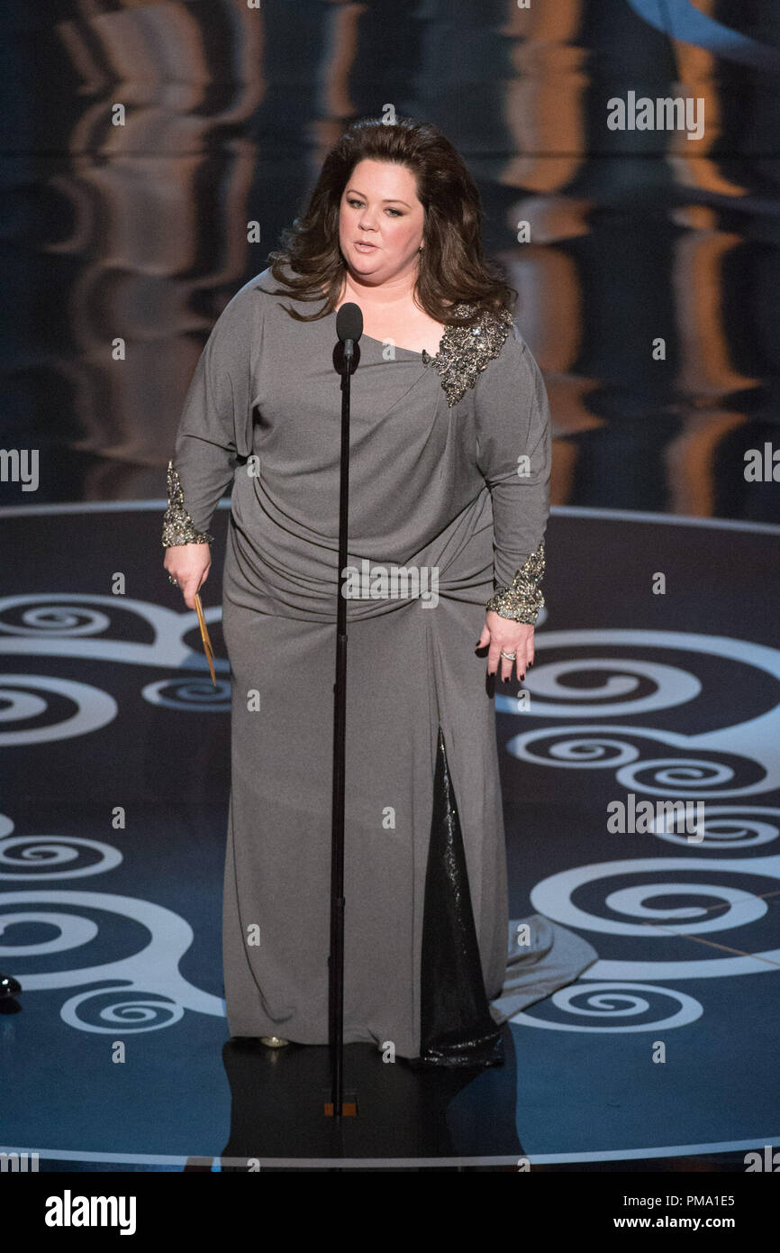 Melissa McCarty introduces the category of best animated short film during the live ABC Telecast of The Oscars® from the Dolby® Theatre in Hollywood, CA, Sunday, February 24, 2013. - Stock Image