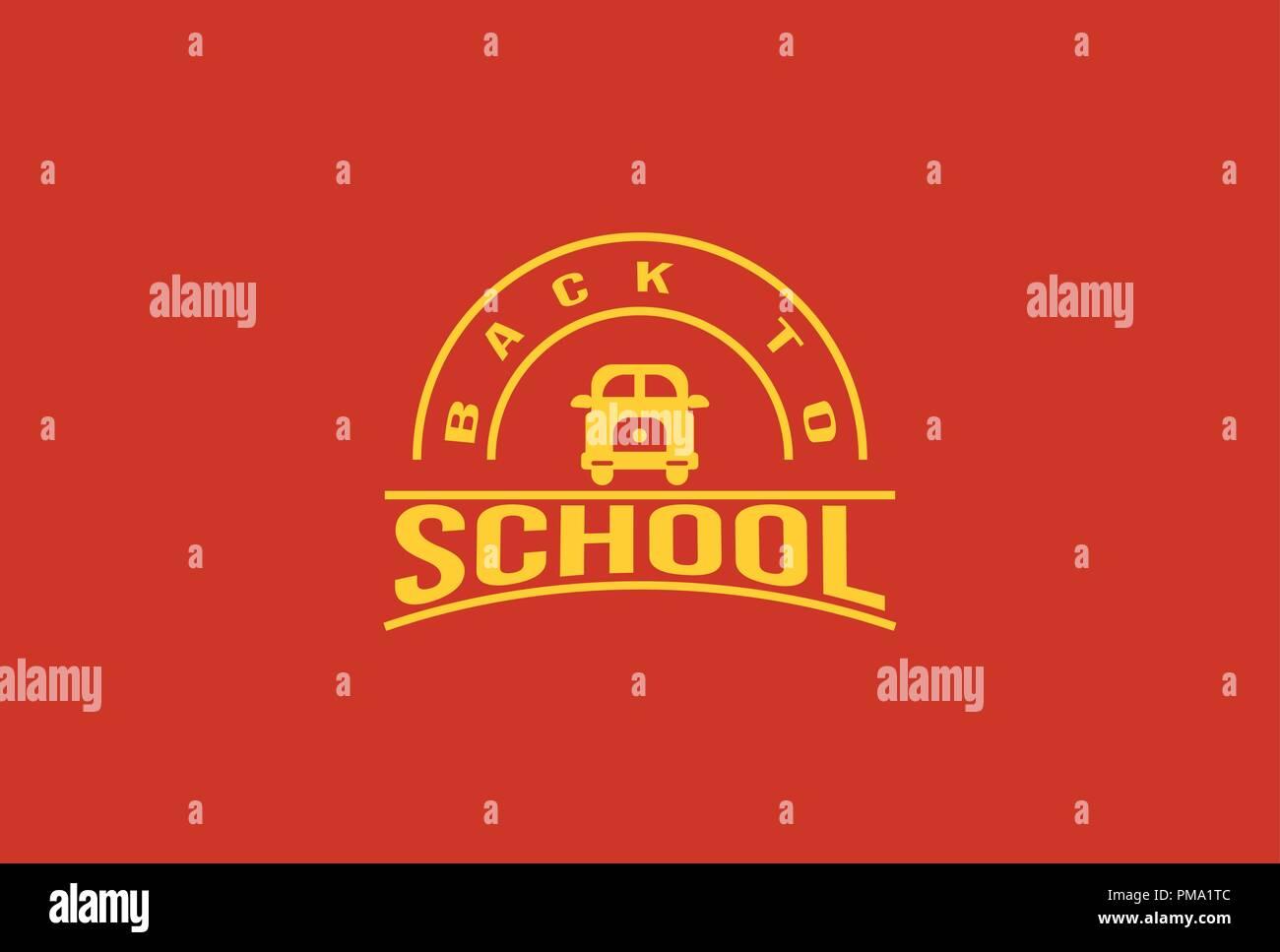 Back to school logo - vector illustration - Stock Image