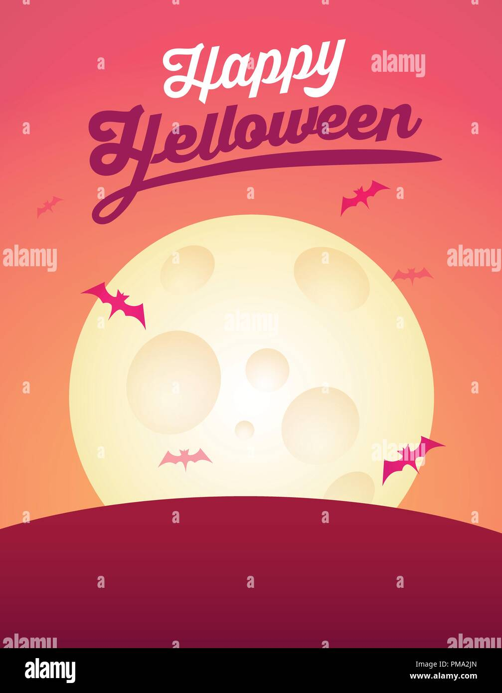 Greeting Card For Helloween Vector Invitation Card With Copy Space