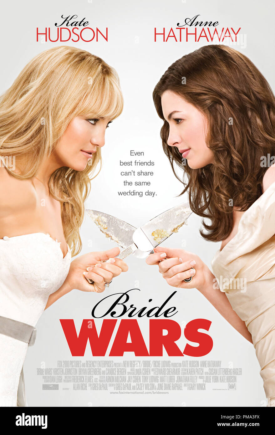 'Bride Wars' Poster Kate Hudson, Anne Hathaway 2009 20th Century Fox Photo credit: Claire Folger - Stock Image