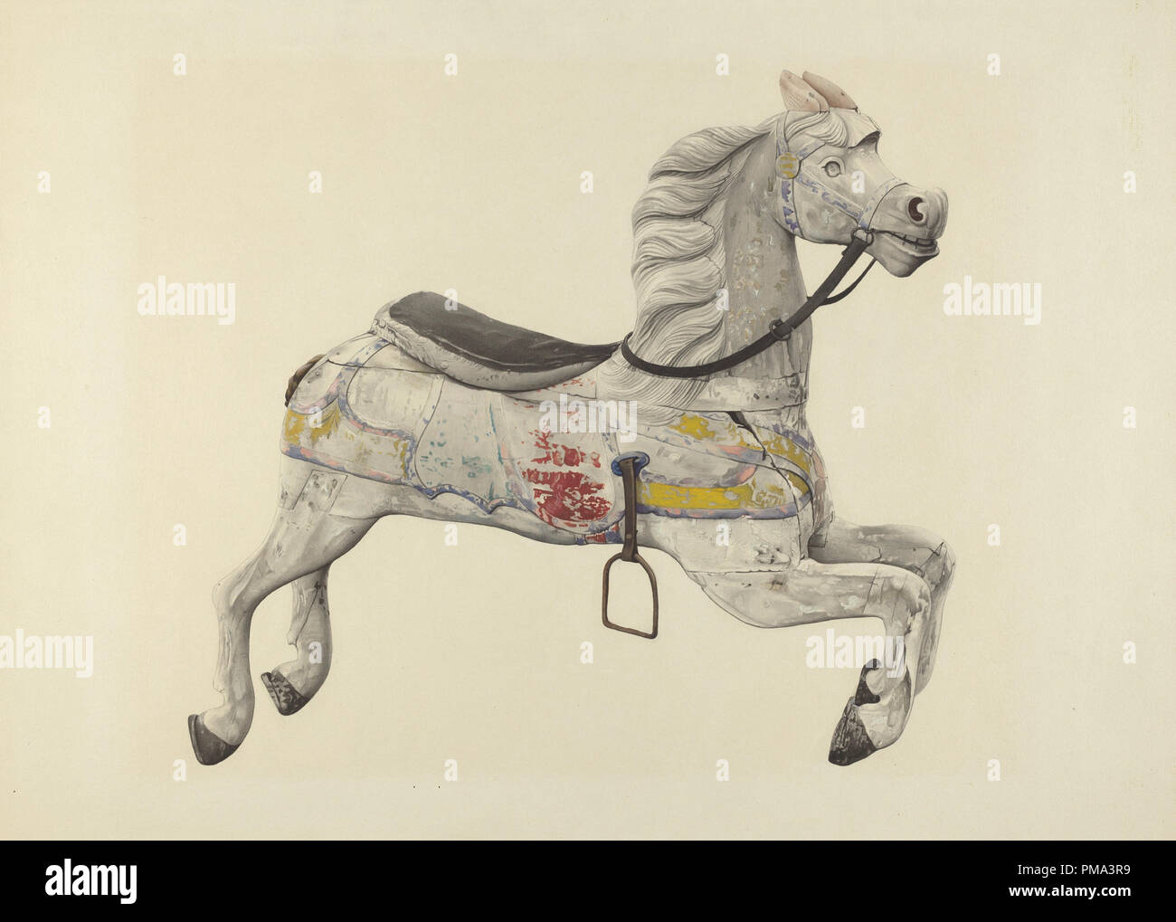 Carousel Horse  Dated: c  1939  Dimensions: overall: 40 5 x 55 7 cm