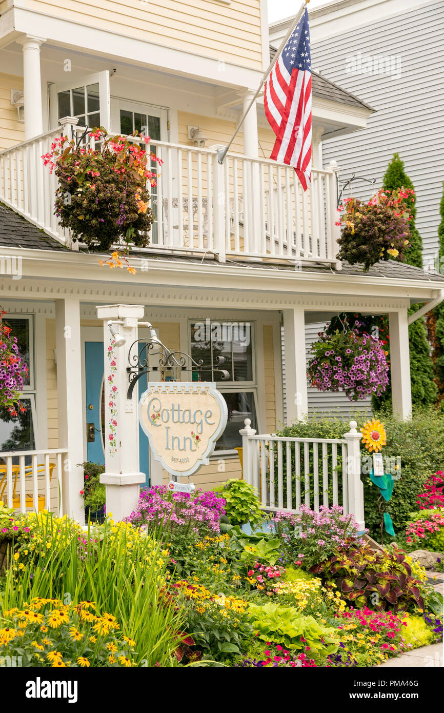 Genial Front Porch Entrance, Surrounded By Gardens To A Quaint Bed And Breakfast  On The Historic