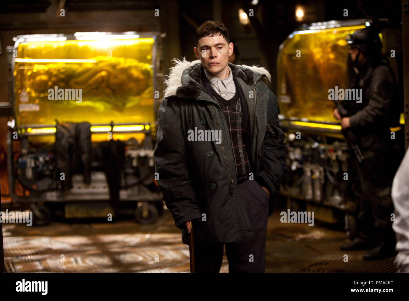 BURN GORMAN as Gottlieb in the sci-fi action adventure 'Warner Bros. Pictures and Legendary Pictures PACIFIC RIM,,' a Warner Bros. Pictures release. - Stock Image