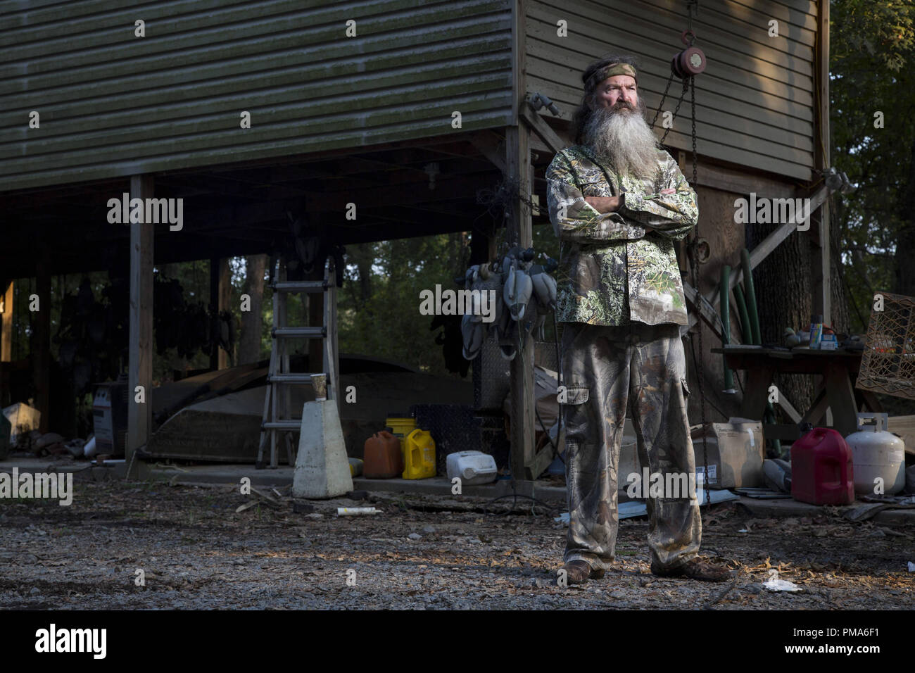 Phil Robertson in A&E's Duck Dynasty. - Stock Image