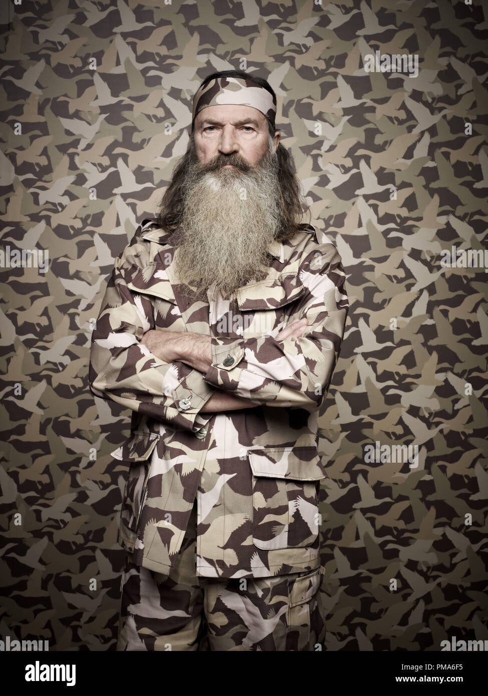 Phil Robertson of the A&E series DUCK DYNASTY - Stock Image