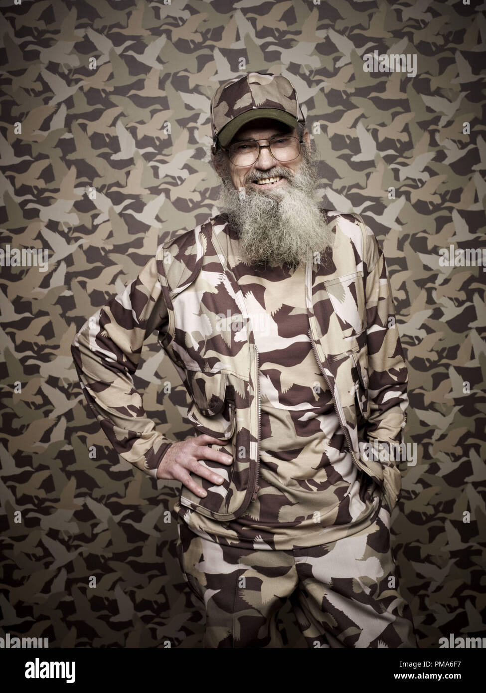 Si Robertson of the A&E series DUCK DYNASTY - Stock Image