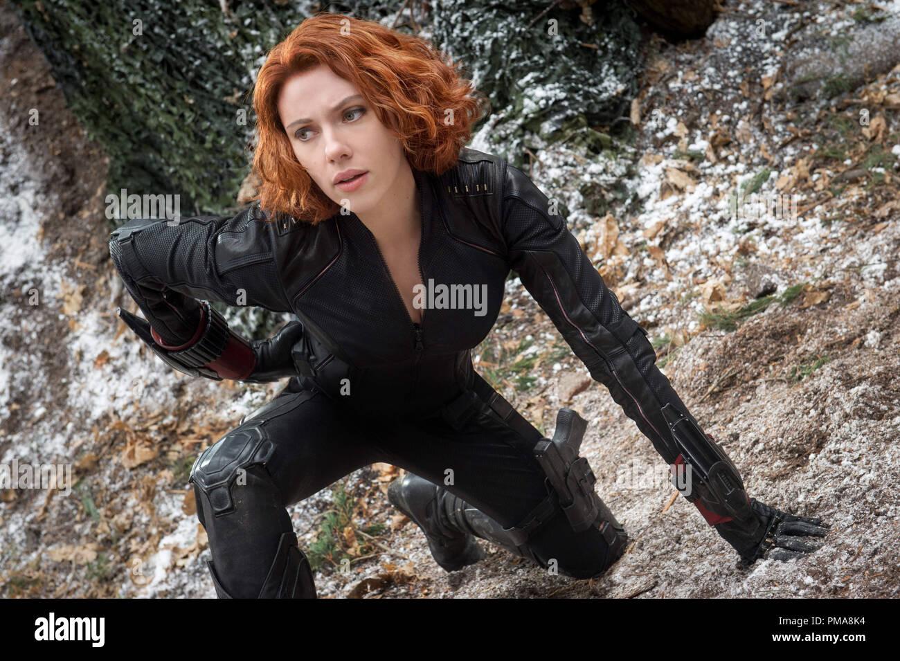 Scarlett Johansson Avengers Black Widow Stock Photos
