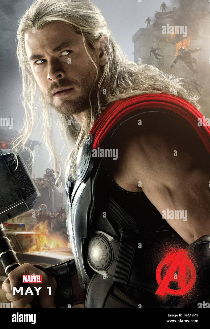 Marvel's Avengers: Age Of Ultron (Poster), Chris Hemsworth, Marvel 2015 Stock Photo