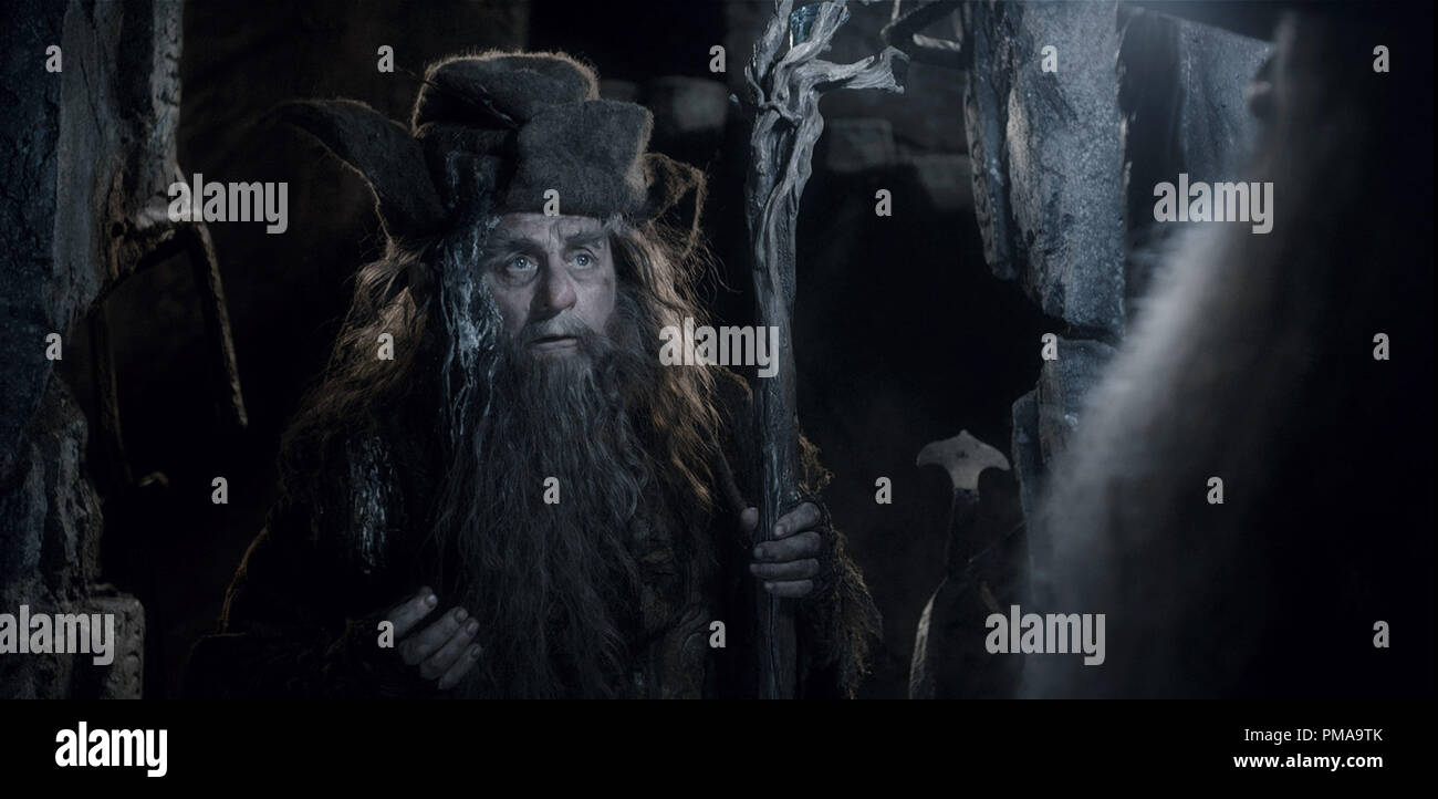 SYLVESTER McCOY as Radagast in the fantasy adventure 'THE HOBBIT: THE DESOLATION OF SMAUG,' a production of New Line Cinema and Metro-Goldwyn-Mayer Pictures (MGM), released by Warner Bros. Pictures and MGM. - Stock Image