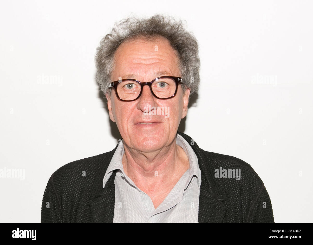 Geoffrey Rush 'The Book Thief' Portrait Session, November 1, 2013. Reproduction by American tabloids is absolutely forbidden. File Reference # 32182_008JRC  For Editorial Use Only -  All Rights Reserved - Stock Image