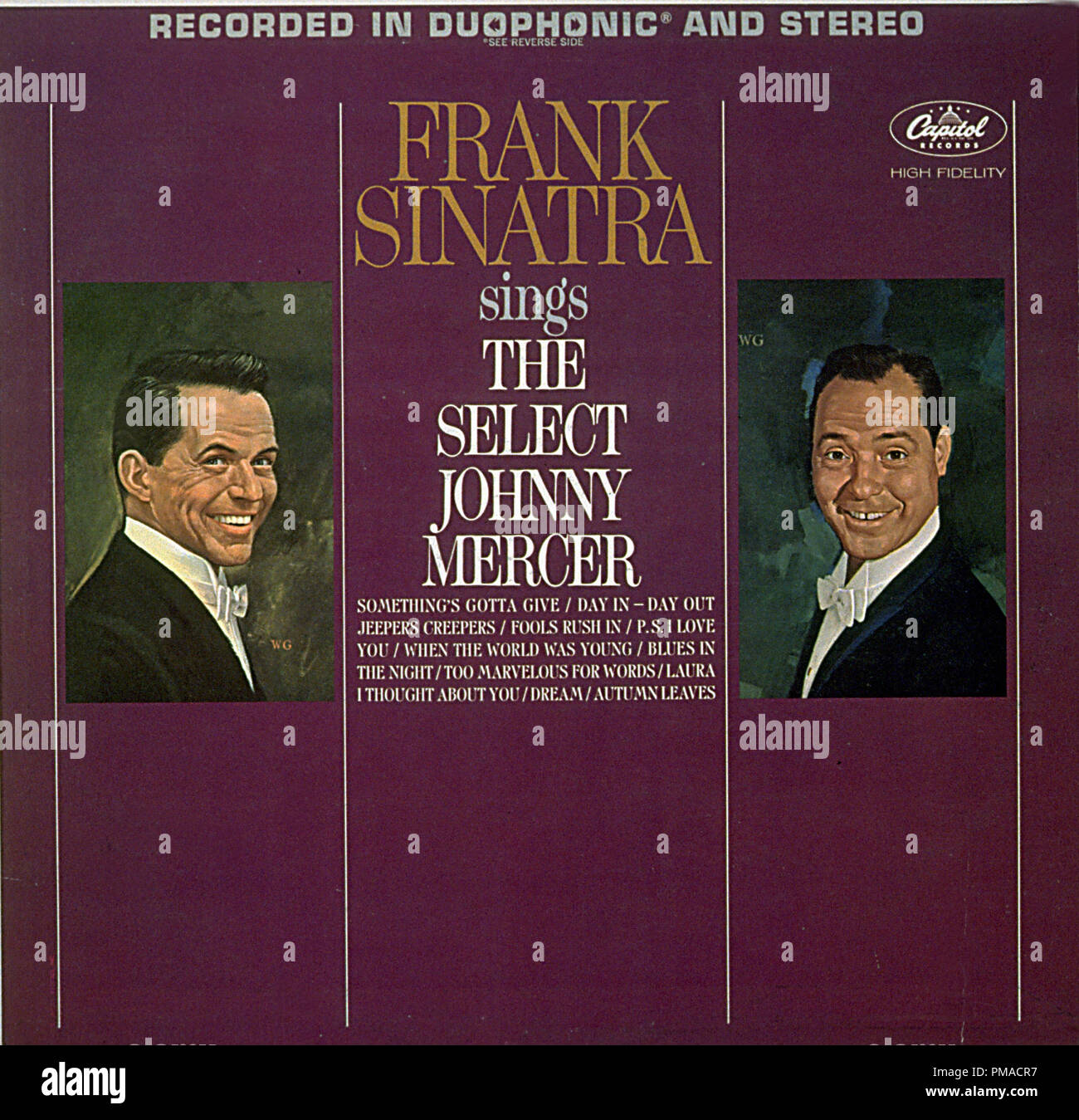 Frank Sinatra Sings the Select Johnny Mercer is a 1995 compilation album by Frank Sinatra, that has him singing the songs written by Johnny Mercer.  File Reference # 32368_415THA - Stock Image