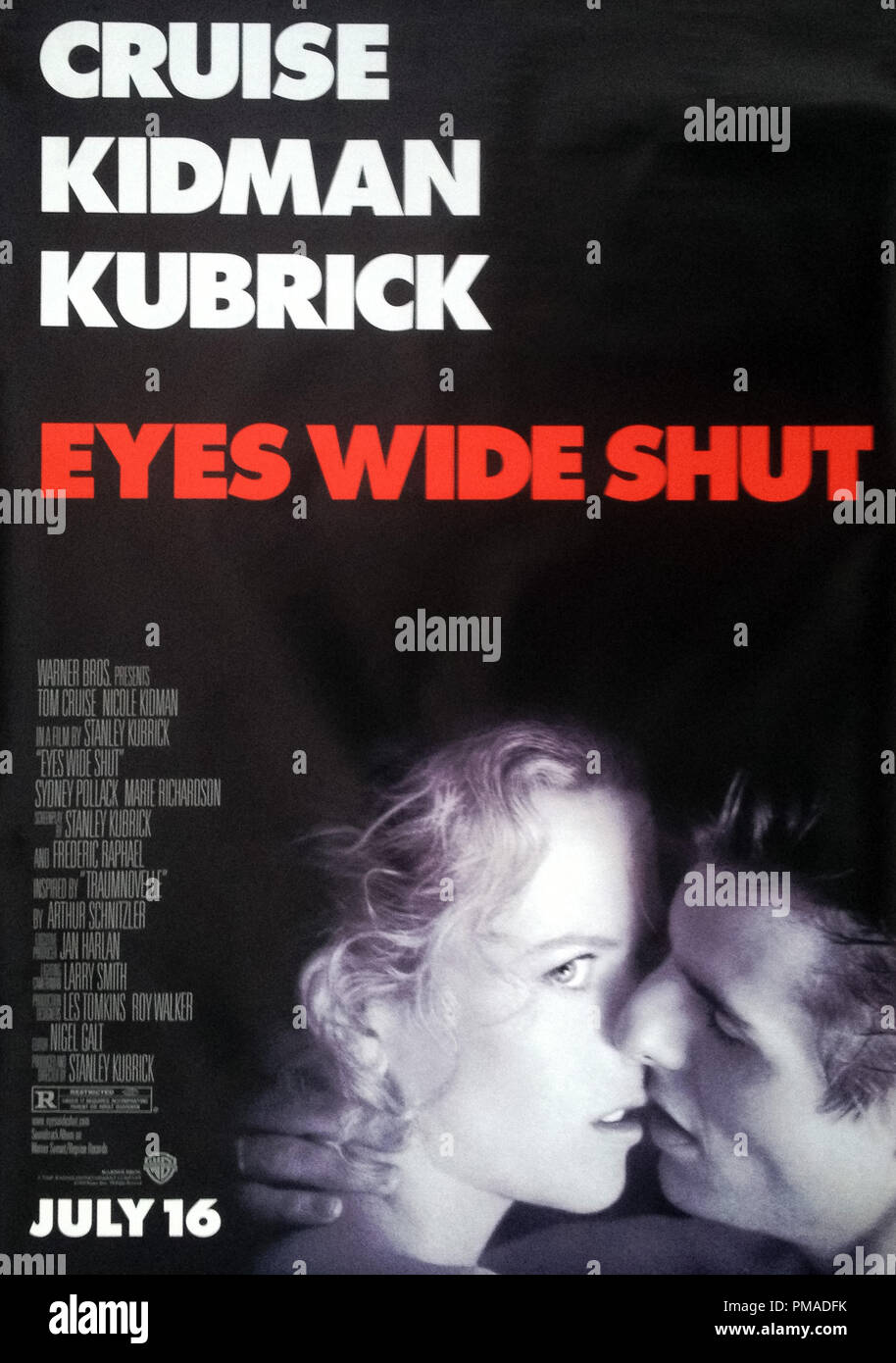 'Eyes Wide Shut' - US Poster 1999 Warner Bros.  Tom Cruise, Nicole Kidman  File Reference # 32509_139THA - Stock Image