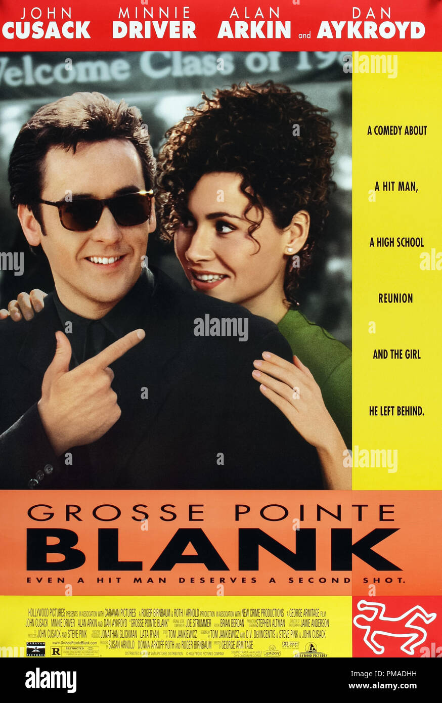 'Grosse Pointe Blank' - US Poster 1997 Buena Vista Films  John Cusack, Minnie Driver  File Reference # 32509_184THA - Stock Image
