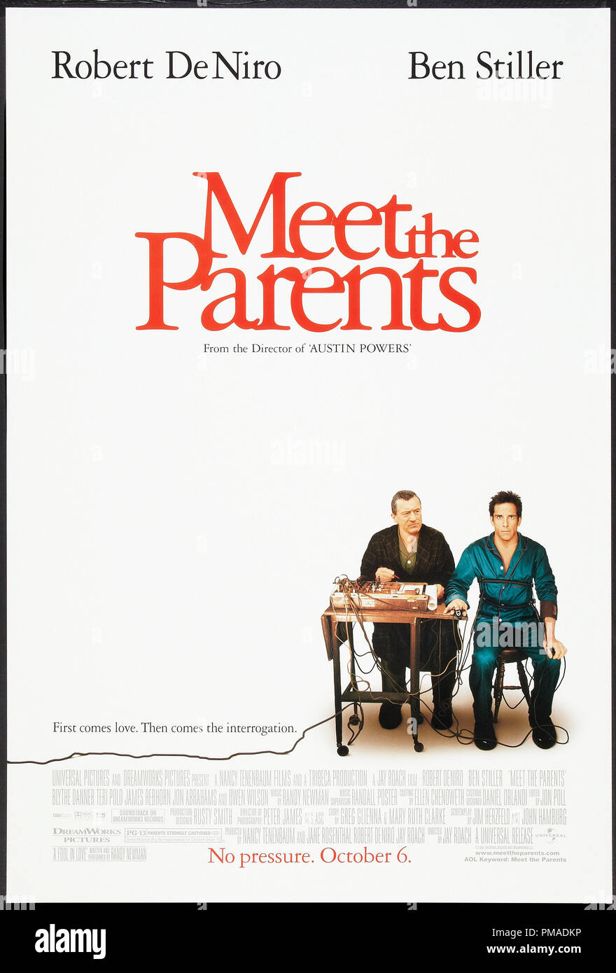 'Meet the Parents' - US Poster 2000 Universal Pictures  Robert De Niro, Ben Stiller  File Reference # 32509_241THA - Stock Image