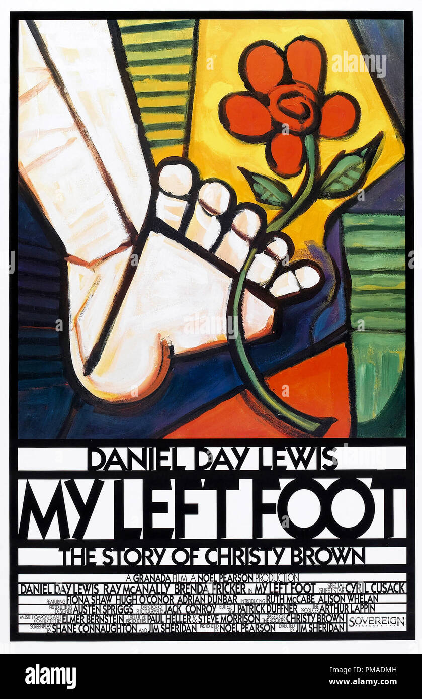 'My Left Foot' - French Poster 1989 Miramax Films   File Reference # 32509_264THA - Stock Image