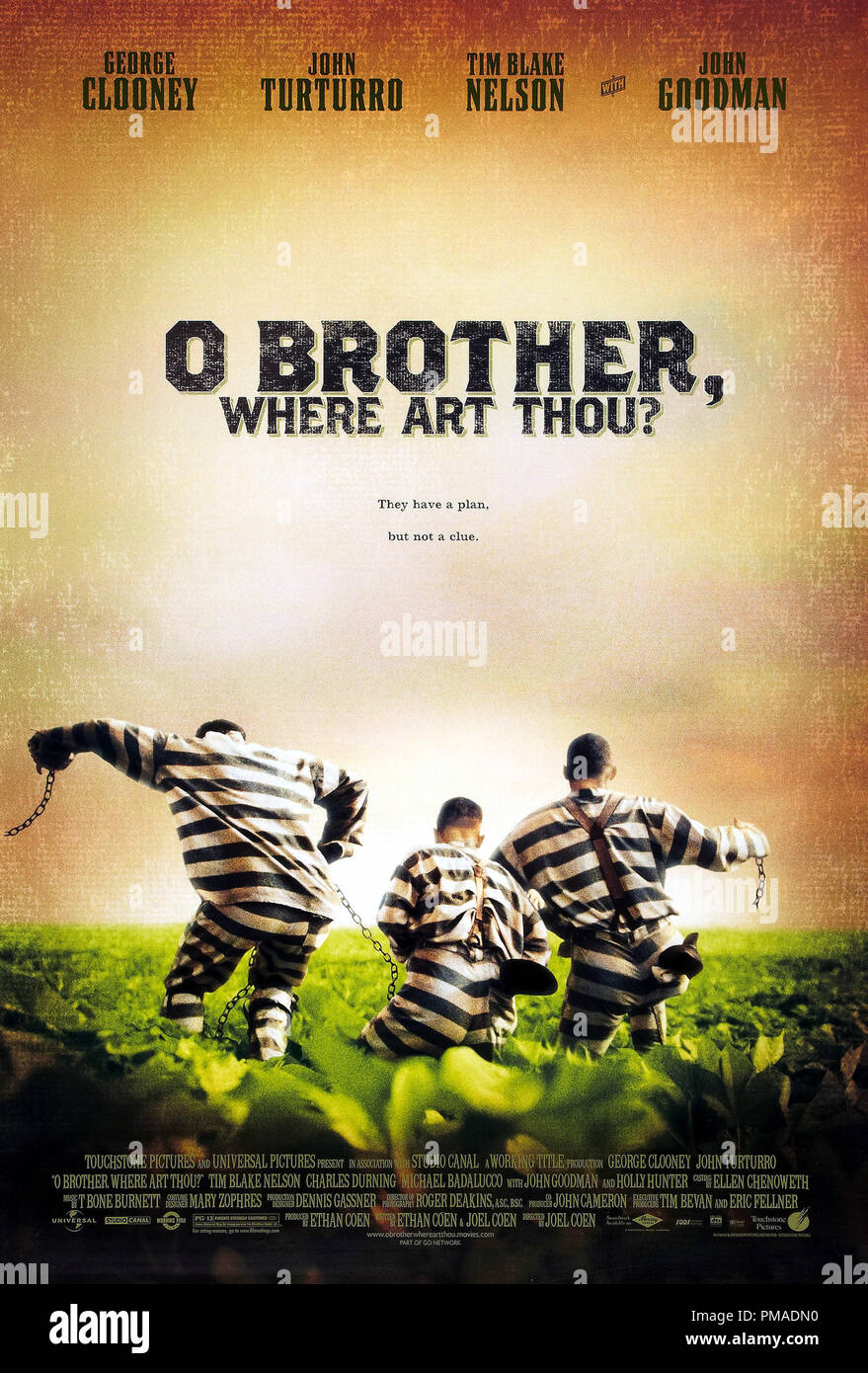 'O Brother, Where Art Thou?' - US Poster 2000 Universal Pictures  George Clooney, John Turturro, Tim Blake Nelson  File Reference # 32509_274THA - Stock Image