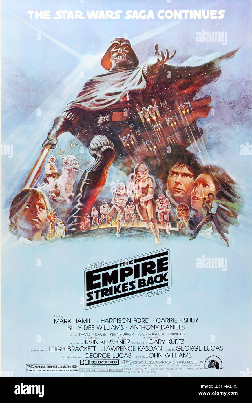 Star Wars: The Empire Strikes Back - US Poster 1980 20th Century Fox Harrison Ford, Mark Hamill, Carrie Fisher  File Reference # 32509_335THA - Stock Image