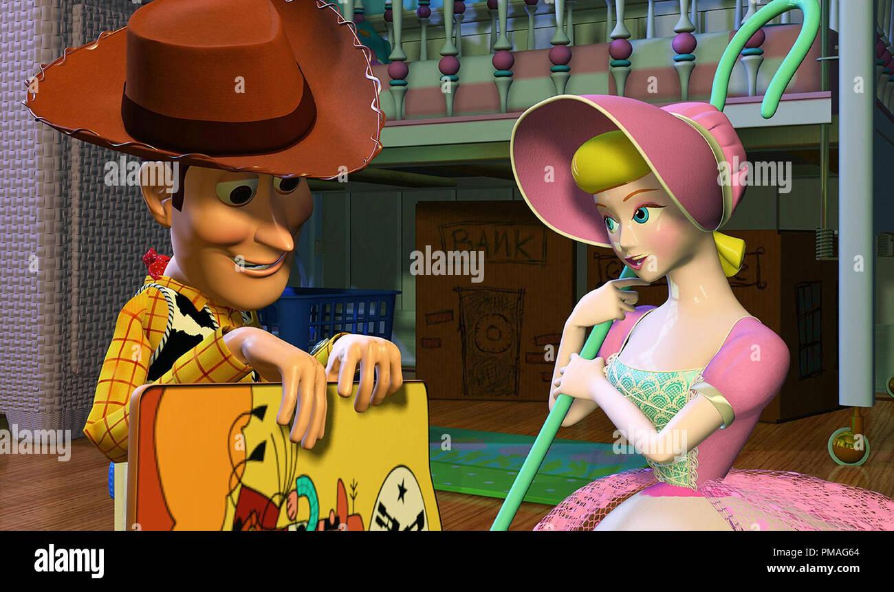 Toy Story (1995) Disney/Pixar  Woody and Bo Peep - Stock Image