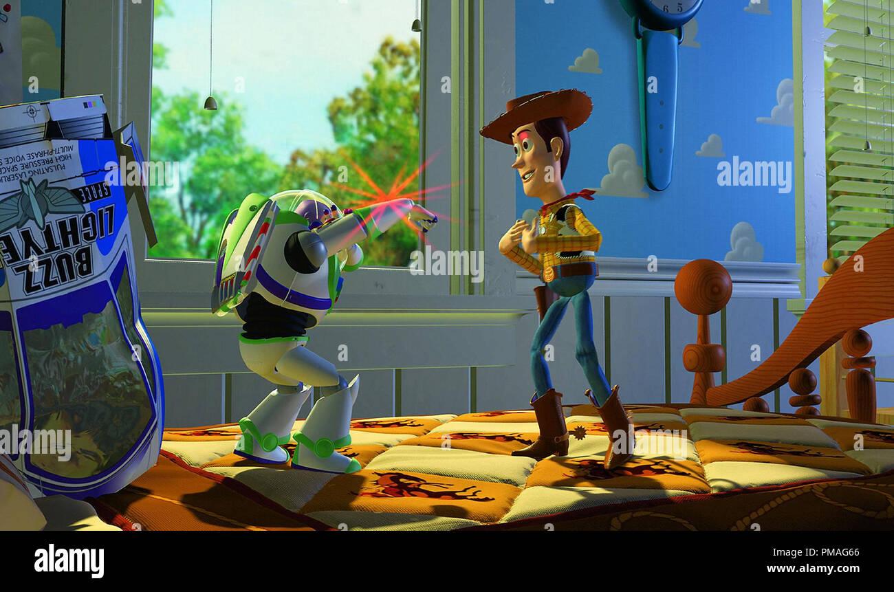 'Toy Story' (1995) Disney/Pixar  Buzz Lightyear and Woody - Stock Image