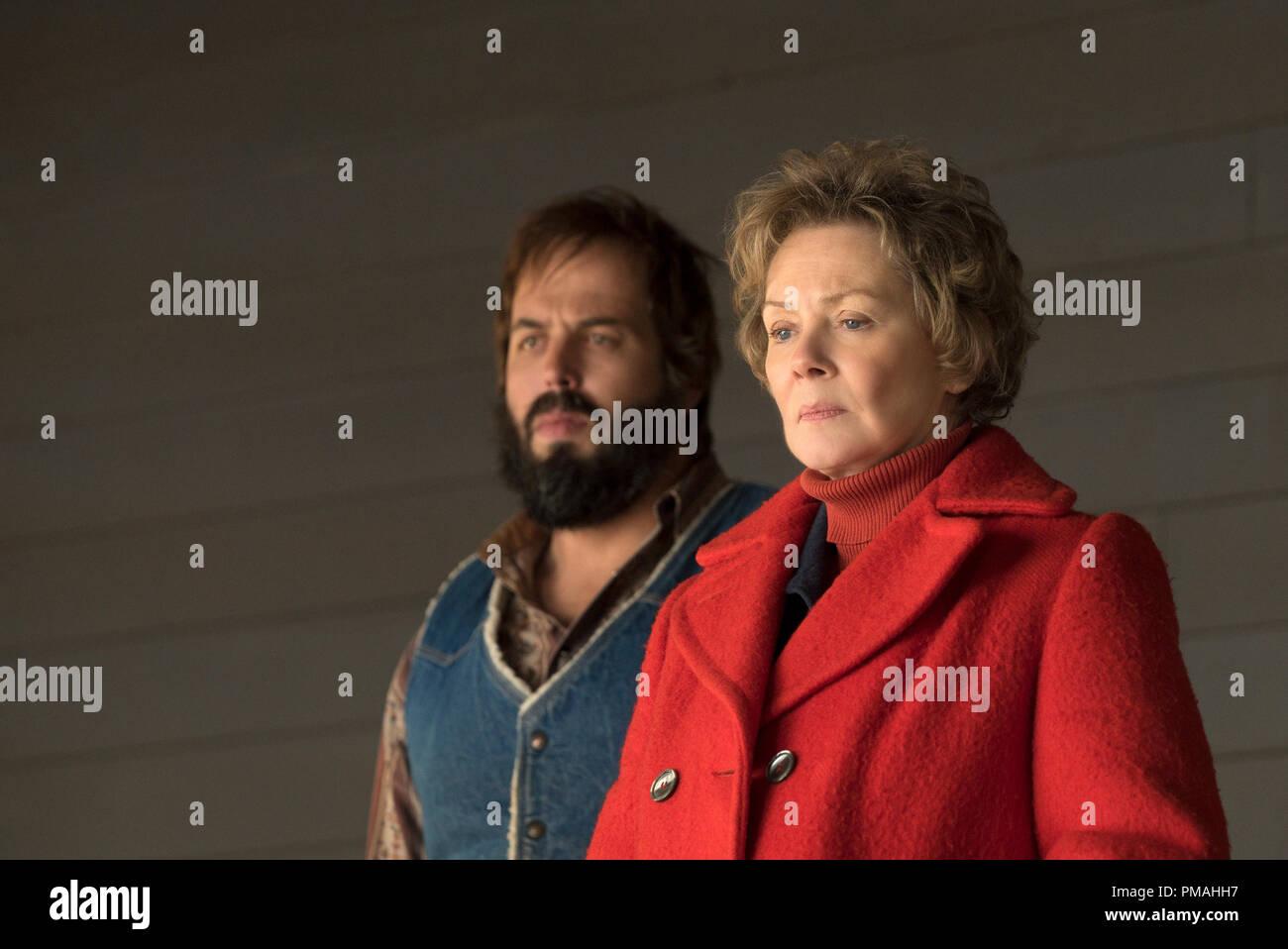 FARGO -- ÒThe Myth of SisyphusÓ -- Episode 203 (Airs October 26, 10:00 pm e/p) Pictured: (l-r) Angus Sampson as Bear Gerhardt, Jean Smart as Floyd Gerhardt. - Stock Image