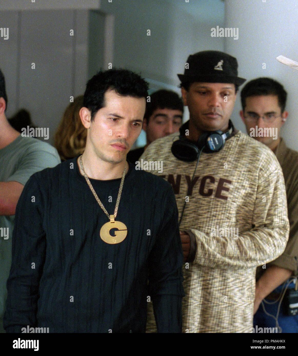 "JOHN LEGUIZAMO and director FRANC. REYES  ""Empire Two Worlds Collide"" (2002) Stock Photo"