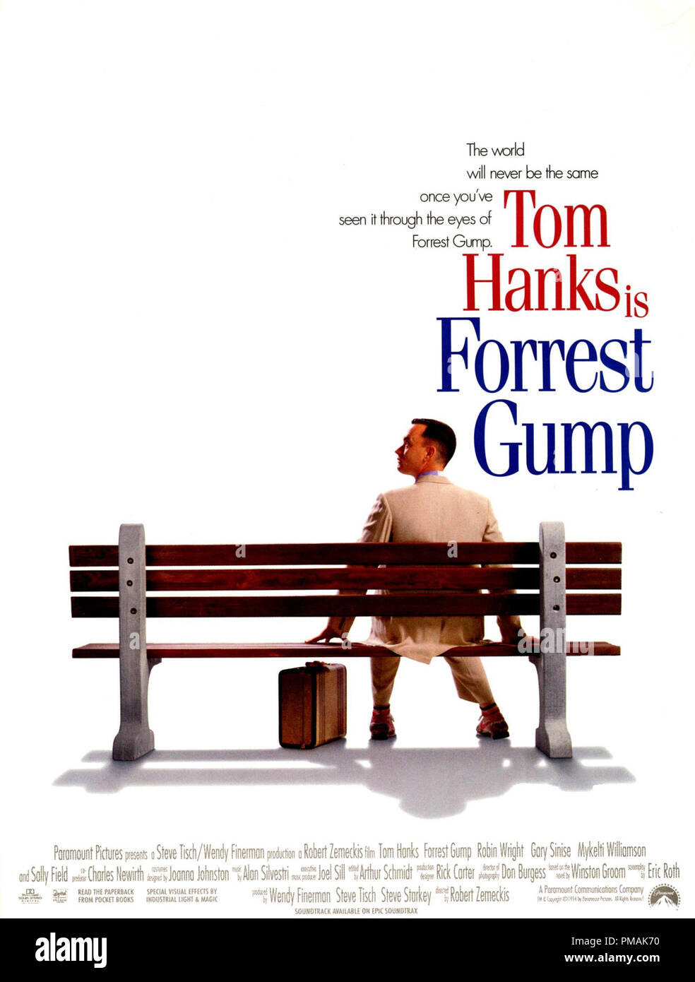 Forrest Gump 1994 Paramount Poster File Reference 33300 268tha Stock Photo Alamy