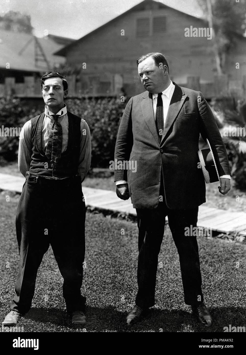 "Buster Keaton, Roscoe ""Fatty"" Arbuckle, circa 1915 File Reference ..."