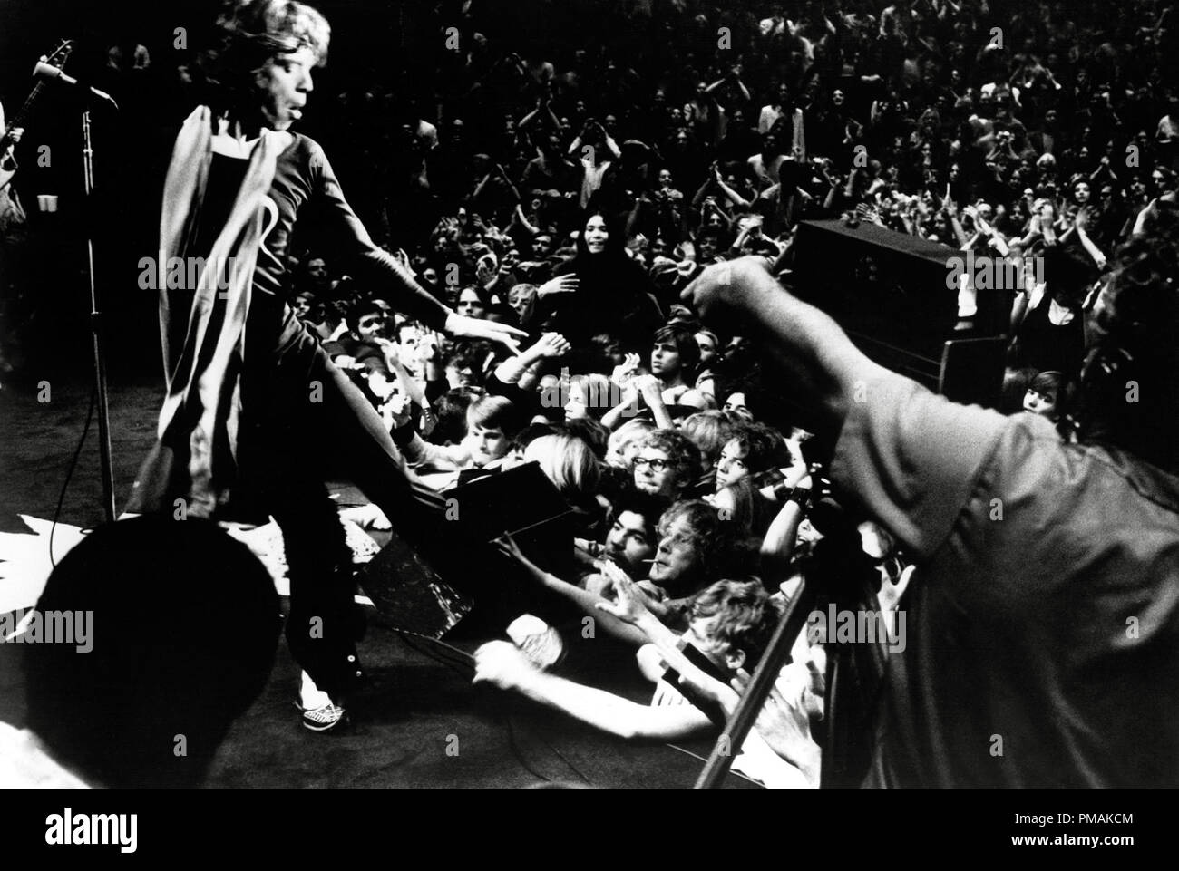 Mick Jagger performing onstage, 'Gimme Shelter' (1970)   File Reference # 33300_415THA - Stock Image