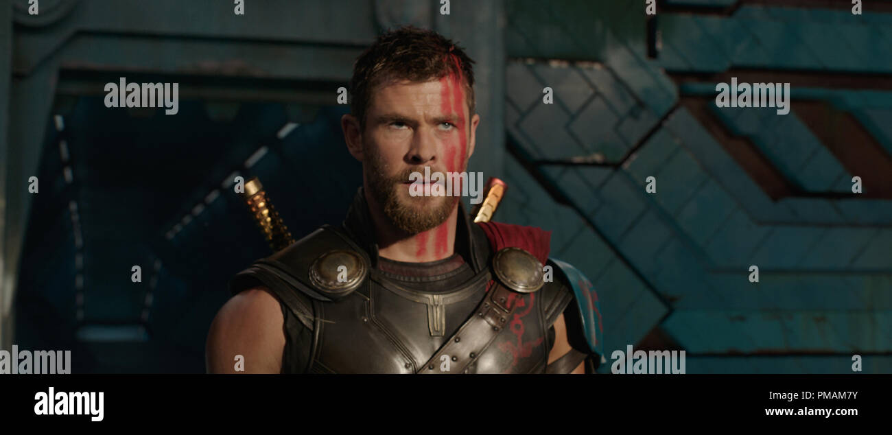 "Chris Hemsworth, ""Thor: Ragnarok"" (2017) Walt Disney Studios Stock Photo"