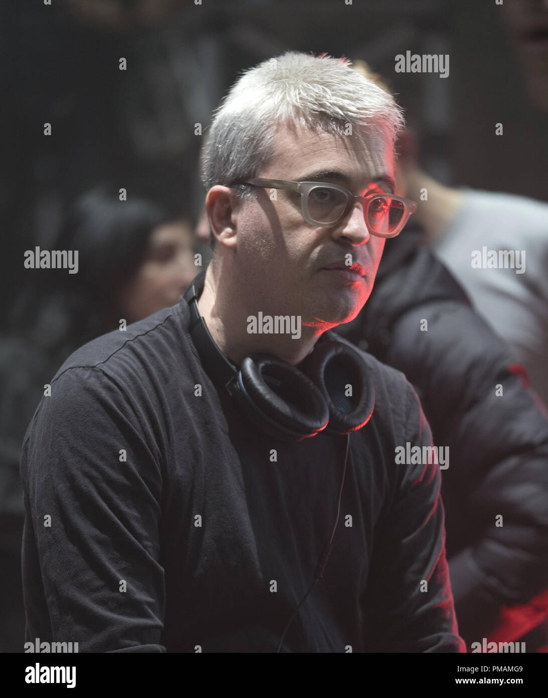 Director/Producer ALEX KURTZMAN on the set of 'The Mummy,' a spectacular, all-new cinematic version of the legend that has fascinated cultures all over the world since the dawn of civilization. - Stock Image