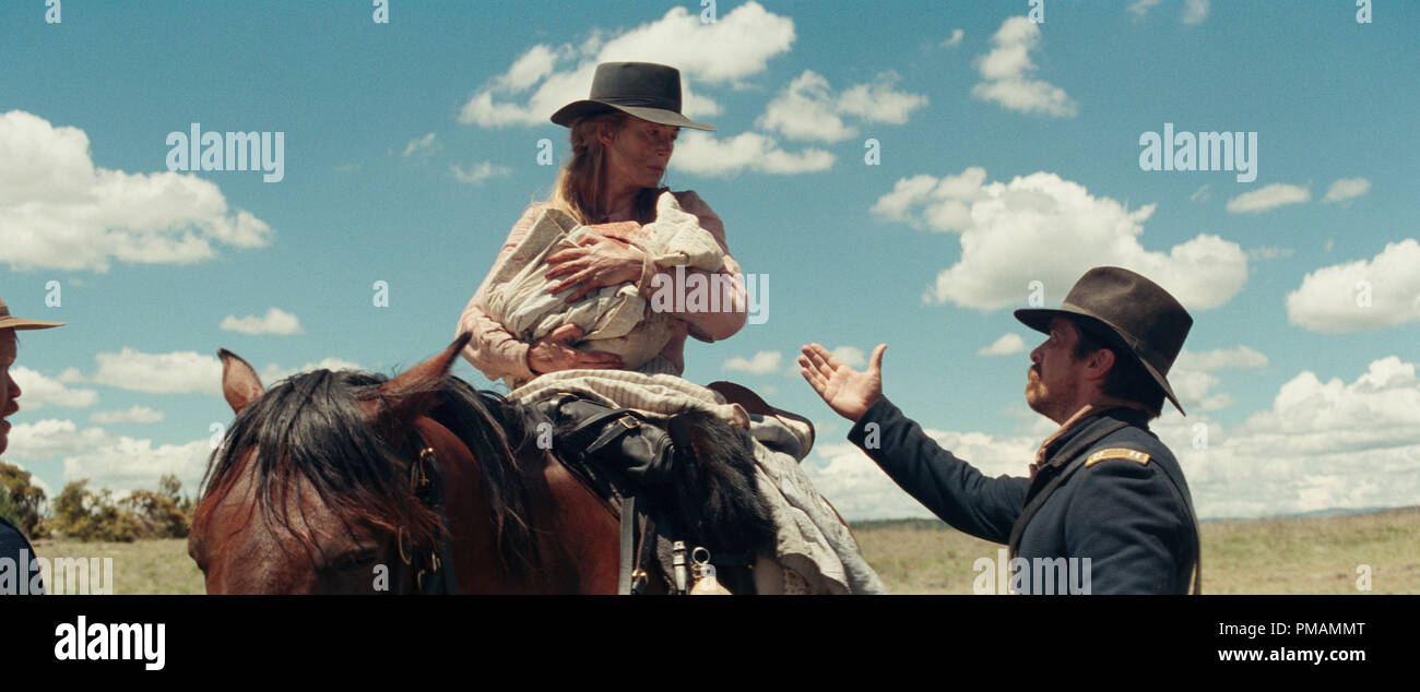 Christian Bale and Rosamund Pike in Hostiles (2017) Entertainment Studios Motion Pictures - Stock Image