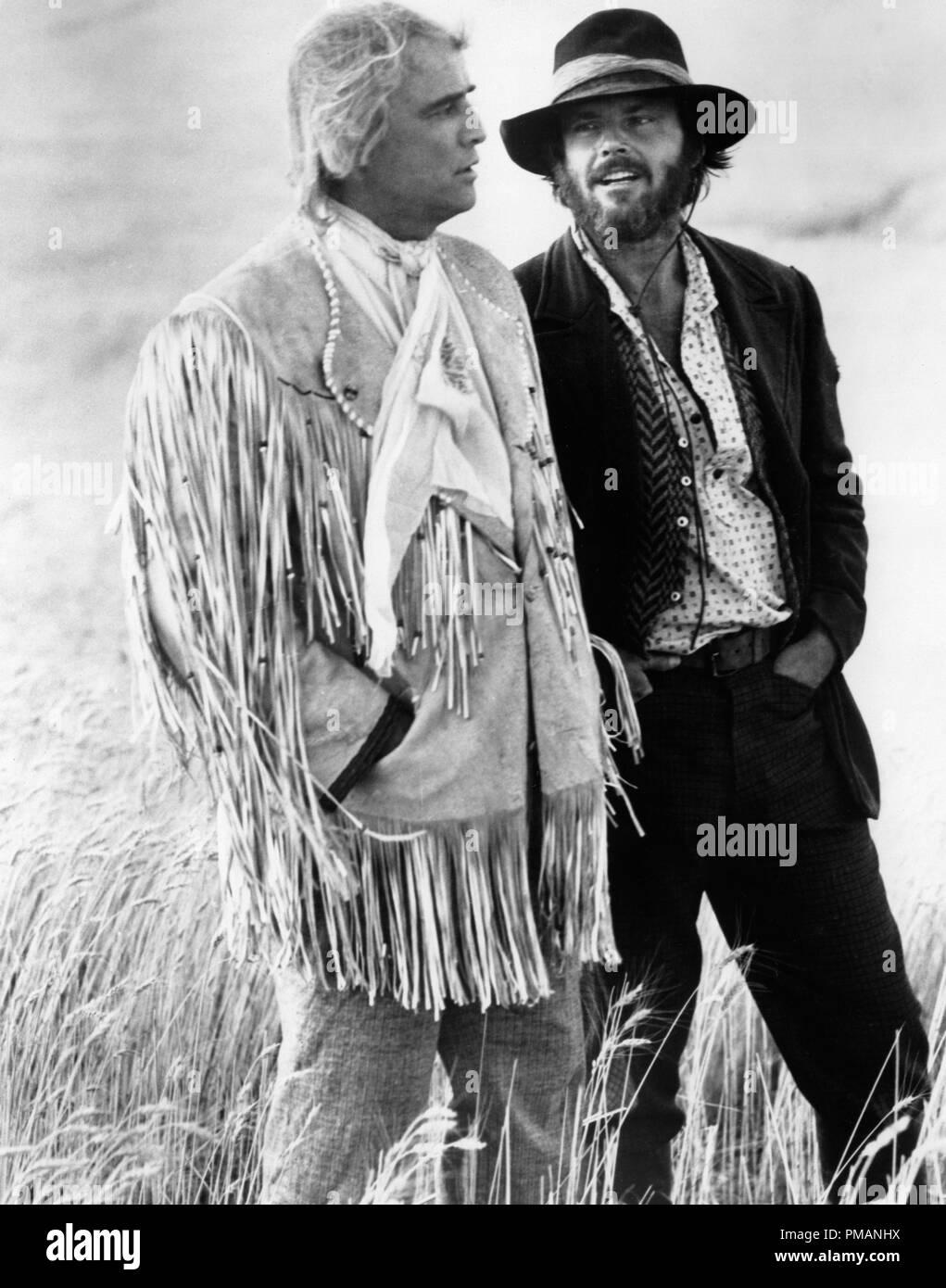 Studio Publicity Still: 'The Missouri Breaks'  Marlon Brando, Jack Nicholson  1976 United Artists     File Reference # 32039_141THA - Stock Image