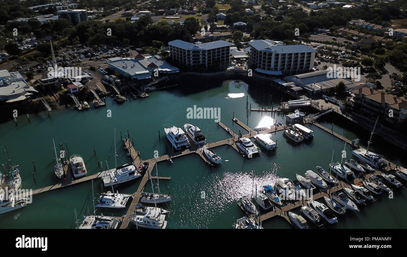 Harvey Bay Aerial Photos - Stock Image