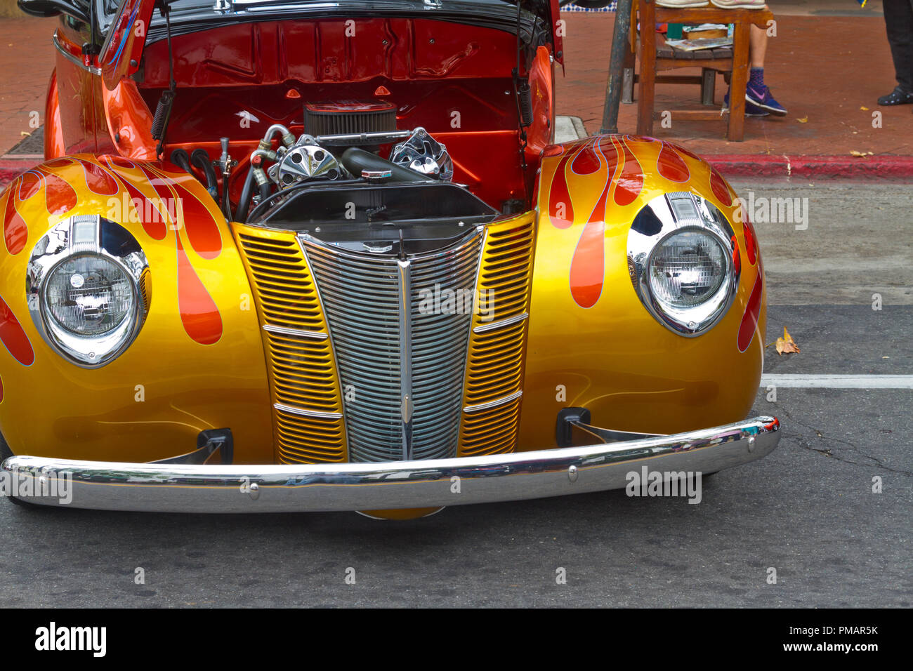 1940 Ford Deluxe Coupe Hot Rod Stock Photo Alamy