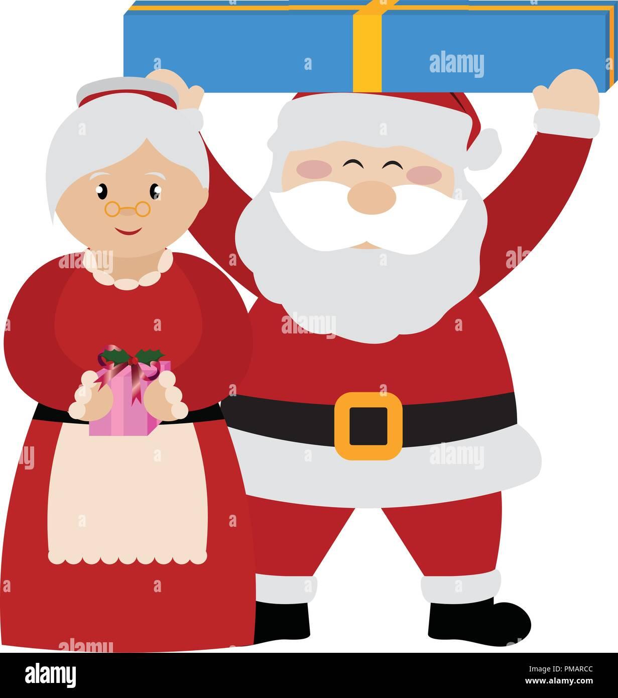 cute christmas characters Stock Vector Art \u0026 Illustration