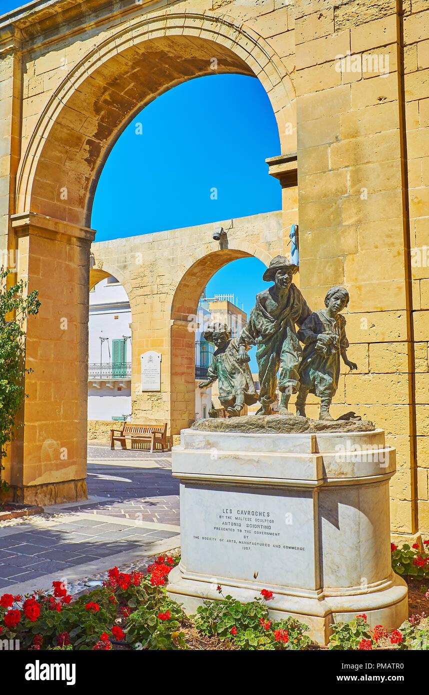 Garden Centre: Valletta Street Sculpture Stock Photos & Valletta Street