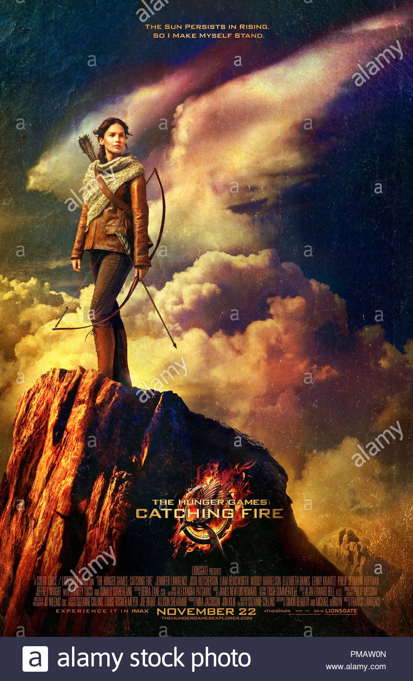 The Hunger Games Catching Fire 2013 Poster Stock Photo Alamy