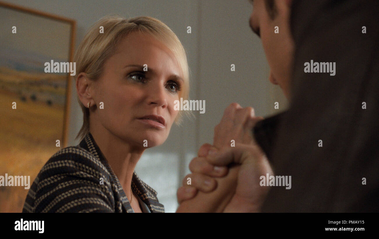 Noah (RYAN GUZMAN) threatens Vicky (KRISTIN CHENOWETH) to stay out of his way in 'The Boy Next Door' - Stock Image