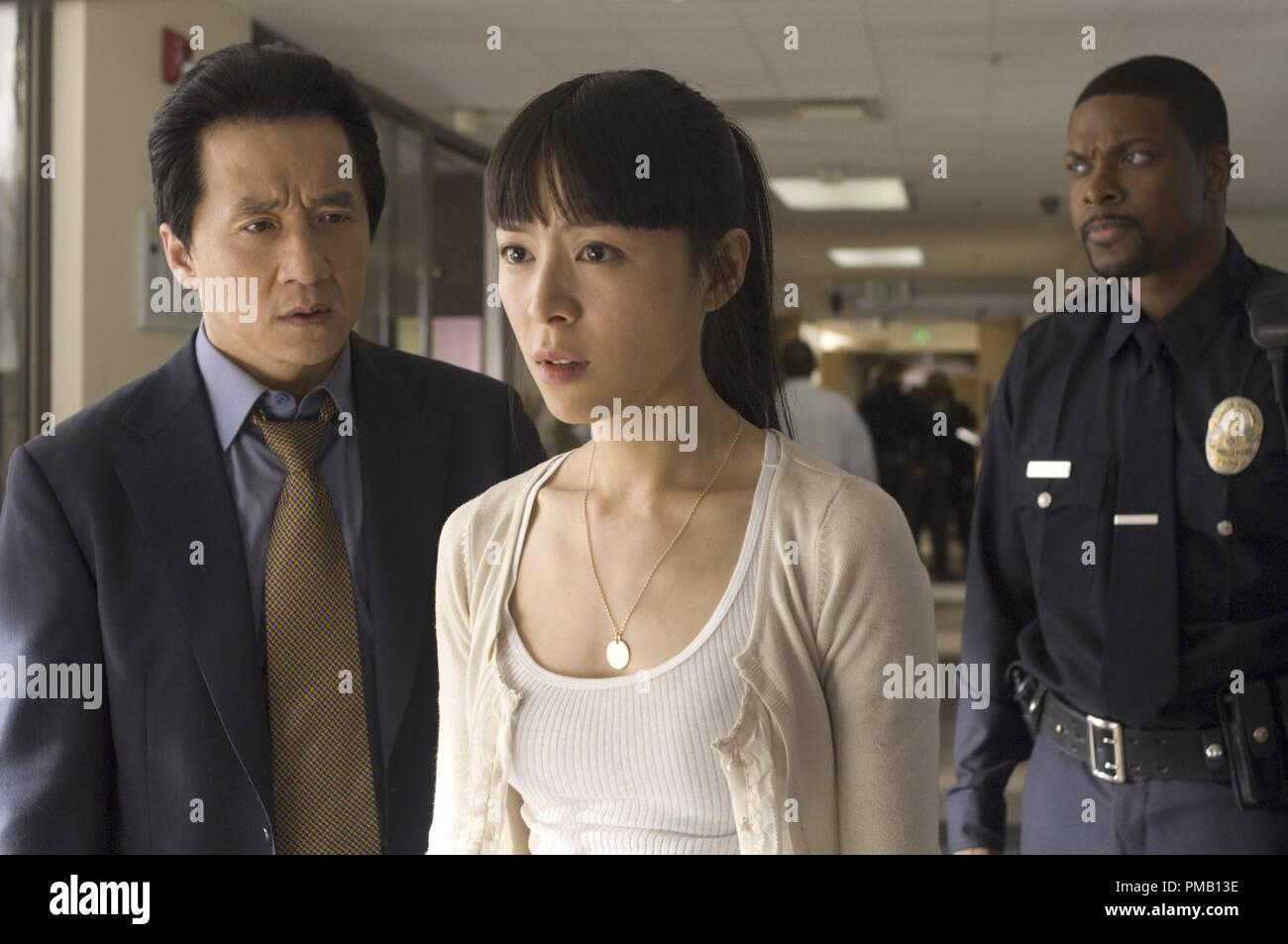Jackie Chan (left) stars as 'Lee', Jingchu Zhang (center) as