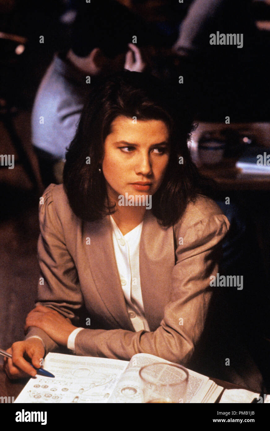 Film still or Publicity still from 'Gross Anatomy'  Daphne Zuniga  © 1989 Touchstone Pictures  All Rights Reserved   File Reference # 33025_008THA  For Editorial Use Only - Stock Image