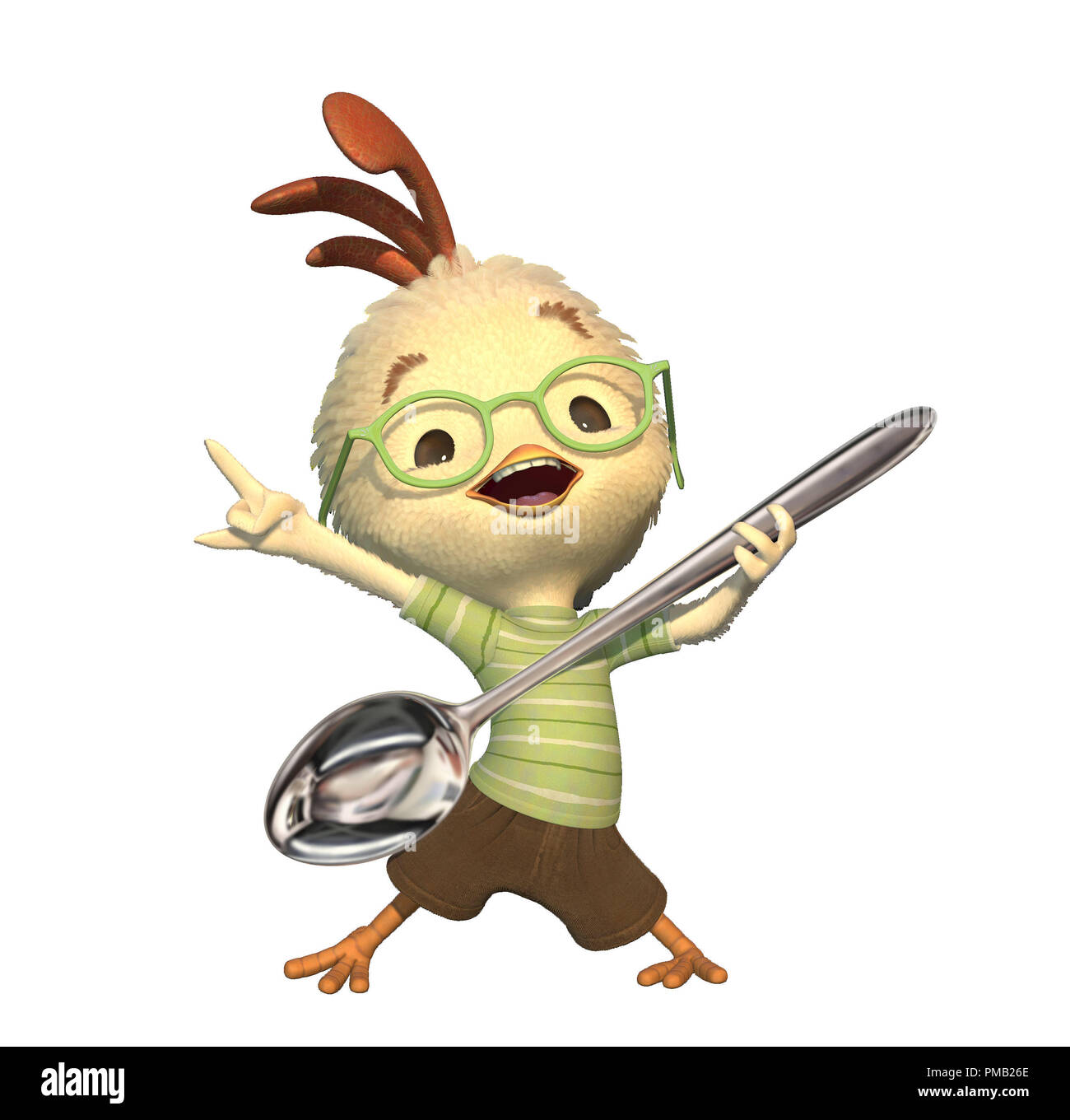 Final Frame; with the final look composed, the character is ready to be posed to match the story points.  'Chicken Little' (2005) - Stock Image