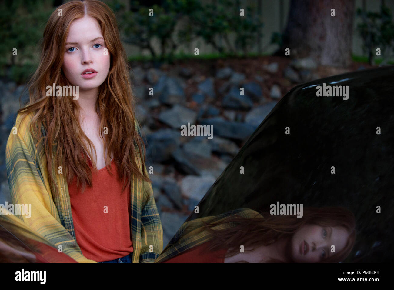 Ellie Bamber stars as India Hastings in writer/director Tom Ford's romantic thriller, NOCTURNAL ANIMALS, a Focus Features release. (2016) - Stock Image