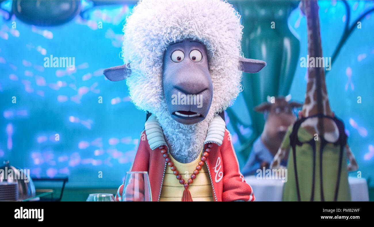 JOHN C. REILLY as Eddie, the black sheep of his wealthy family, in the event film 'Sing,' from Illumination Entertainment and Universal Pictures. (2016) - Stock Image