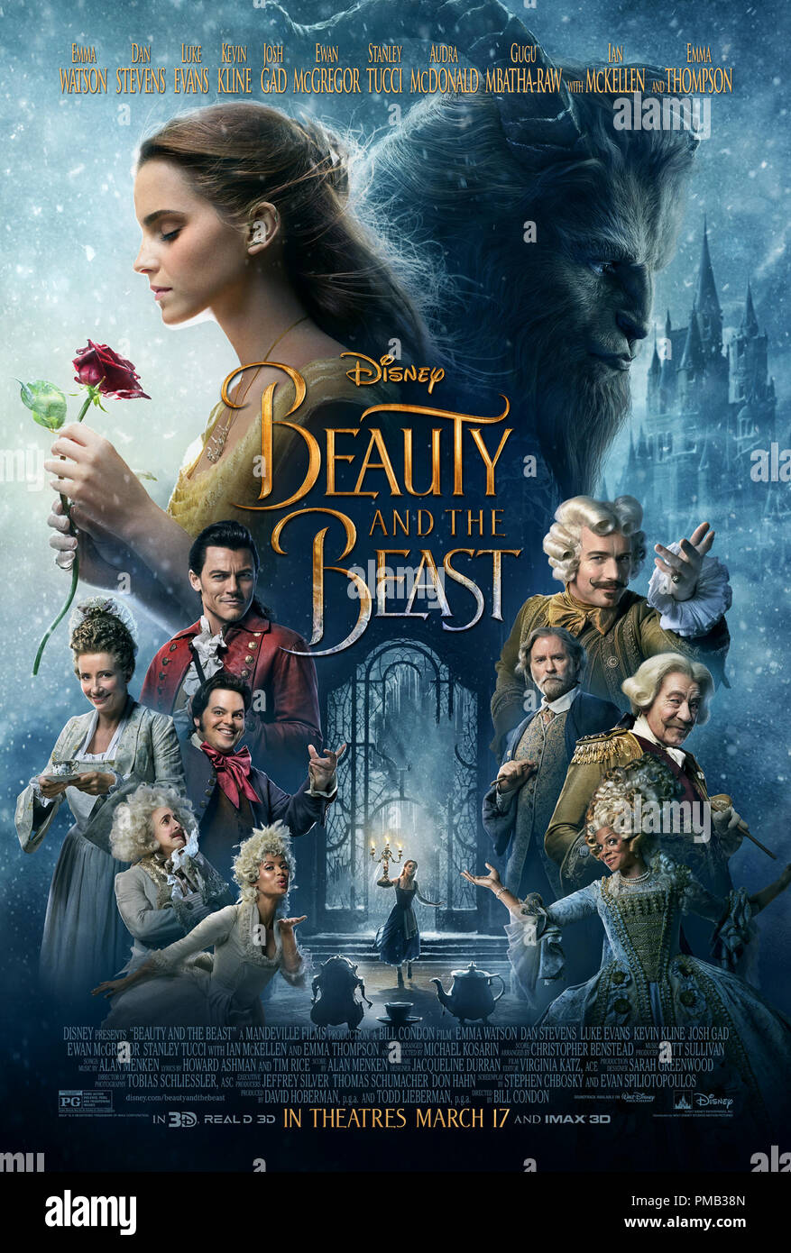 Beauty And The Beast (2017) Disney Enterprises inc. Poster - Stock Image