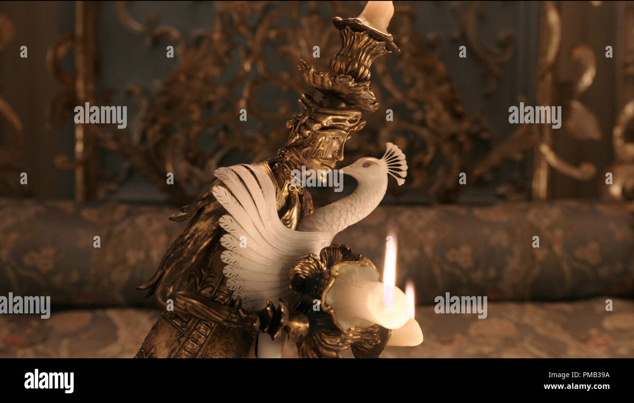 Lumiere The Candelabra Is Smitten With Plumette The Feather Duster In Disney S Beauty And The Beast