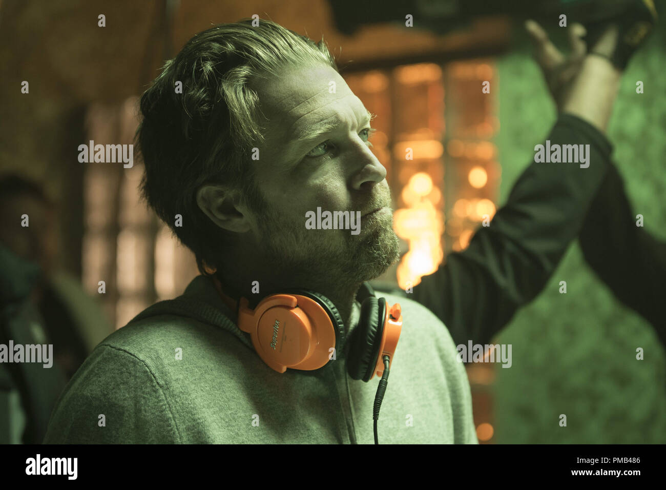 Director DAVID LEITCH on the set of 'Atomic Blonde.' (2017) Focus Features - Stock Image