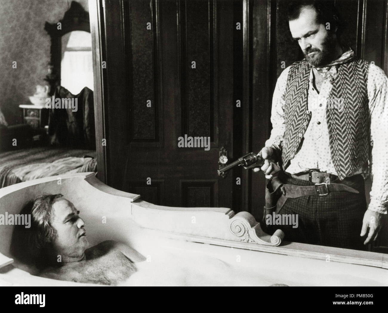 Marlon Brando and Jack Nicholson 'The Missouri Breaks' (1976) United Artists  File Reference # 33371_481THA - Stock Image