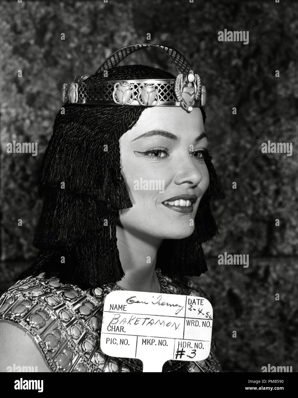 Gene Tierney, 'The Egyptian' 1954 20th Century Fox    File Reference # 33536_432THA - Stock Image