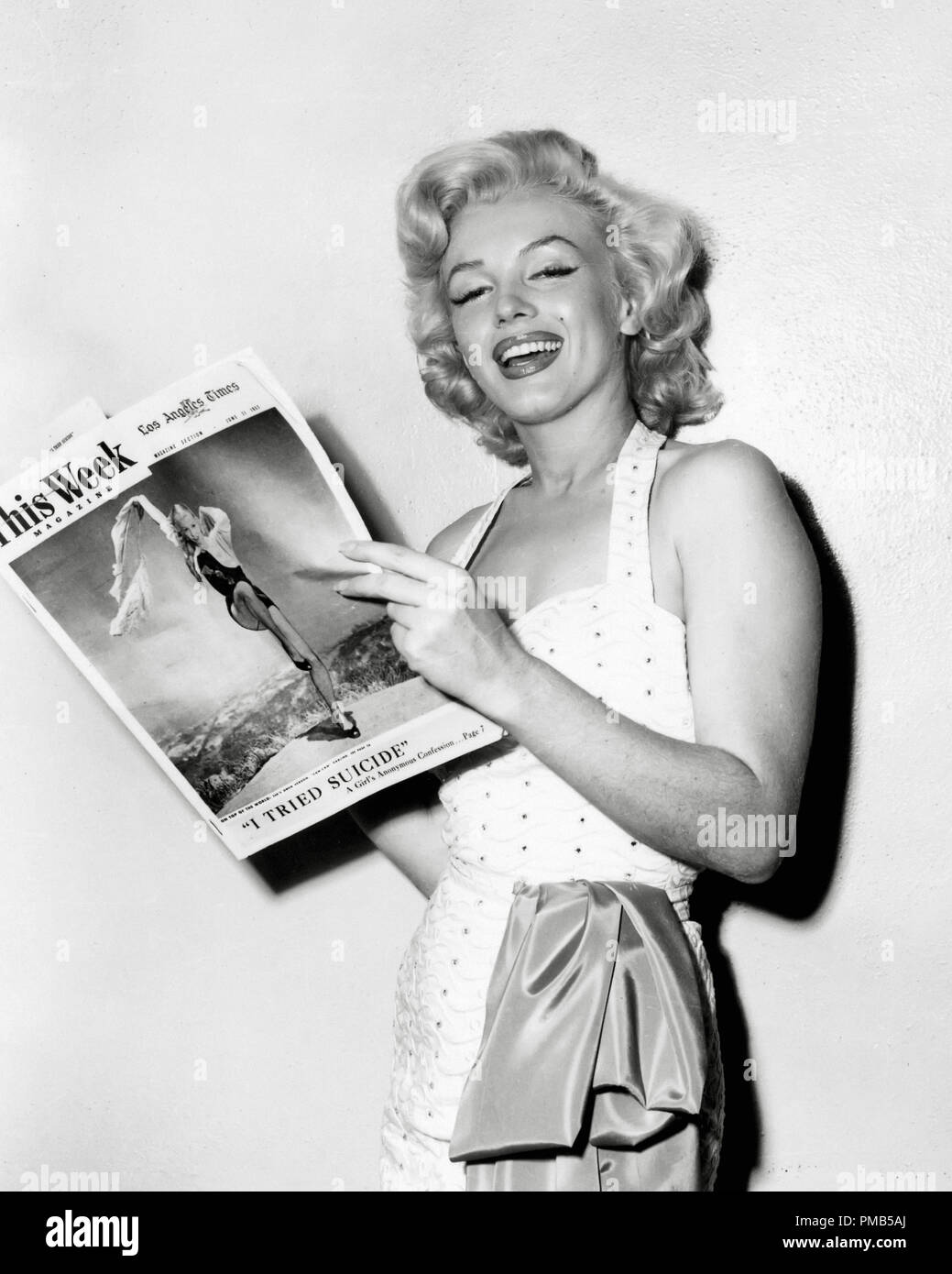 Marilyn Monroe, circa 1953    File Reference # 33536_469THA - Stock Image